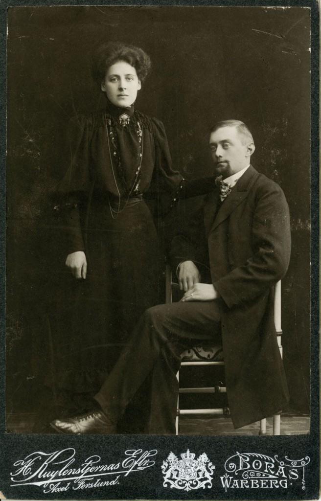 Anders och Bertha Andréen, förlovningskort 1906