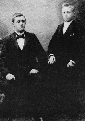 Bröderna Anders och Martin Andréen, född 1881 resp 1883