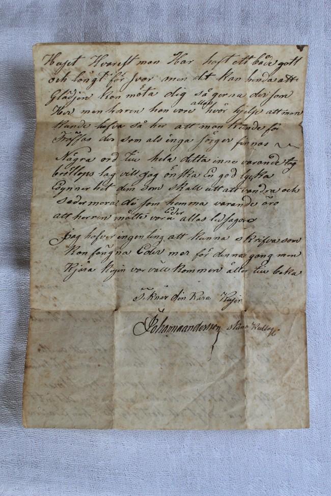Brevets sista sida