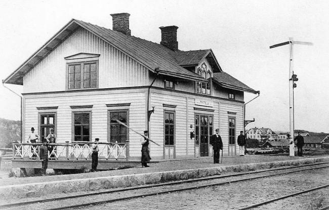 Fritsla järnvägsstation 1881. Foto Jvgm KDAA 01973.
