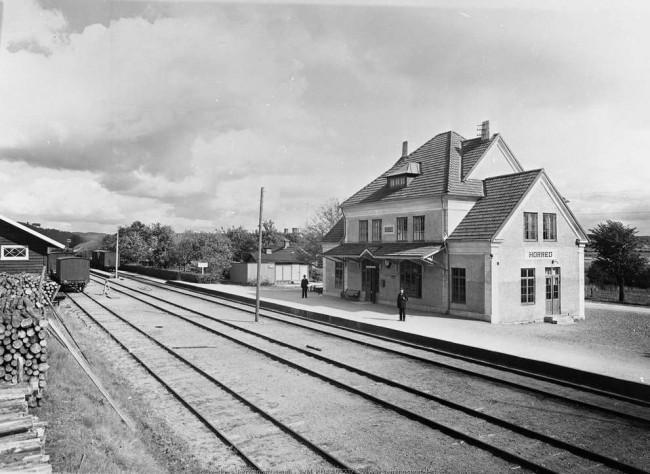 Horreds järnvägsstation 1926. Jvgm KBEB 0314.