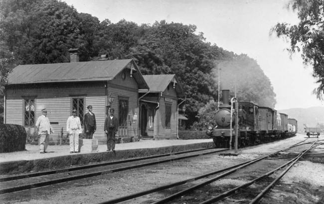 Sundholmens järnvägsstation 1910. Foto Jvm KBEB 01303.