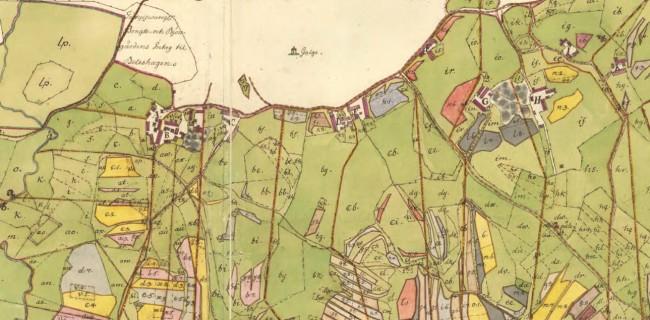 Örby socken Skene nr 2-6 8-11 Storskifte på inägor 1765. Från Lantmäteriet.