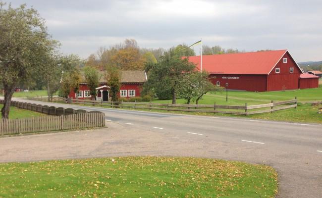 Klockaregården, Horreds, Istorps, Öxnevalla Hembygdsförening och museum. Foto från 2014.