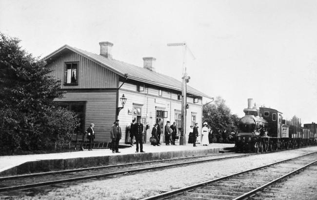 Horreds järnvägsstation på 1910-talet. Foto Jvm. KDAJ03741