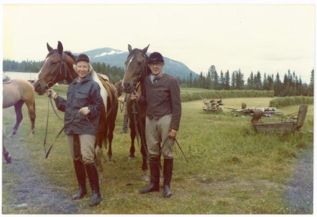 Berthel med Parim. Margit med Campi. 1975.