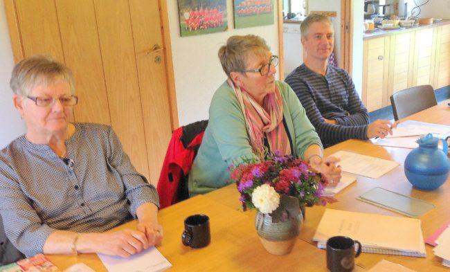 Britt Ebbeson, Agneta Bengtsson och Per Bergdahl, Styrelsens höstmöte 2016.