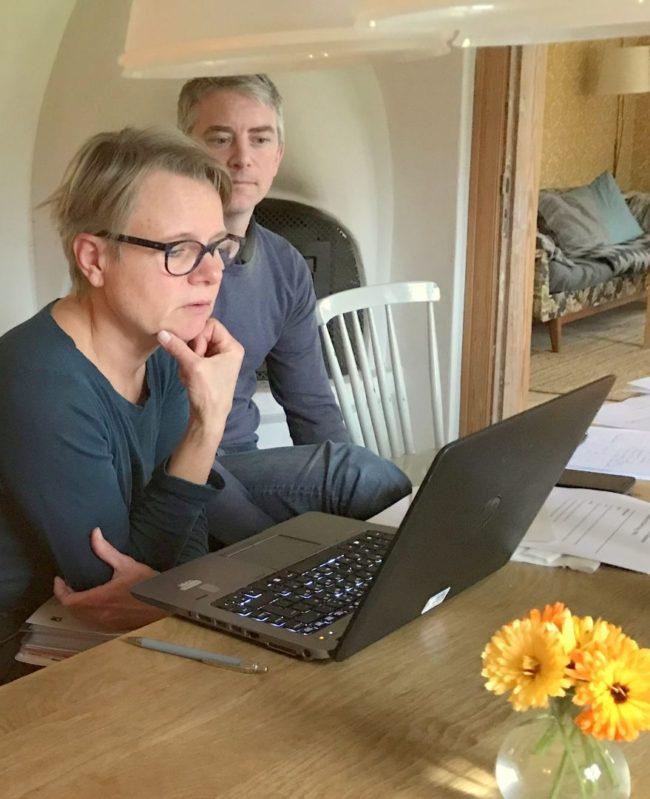 Hillevi Blomster och Per Bergdahl. Foto: Kjell-Åke Brorsson okt. 2017.